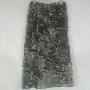 Floral and Animal Print Gypsy Skirt
